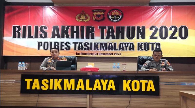 Terjadi 6 Kasus Menonjol Selama 2020 di Wilayah Hukum Polresta Tasikmalaya
